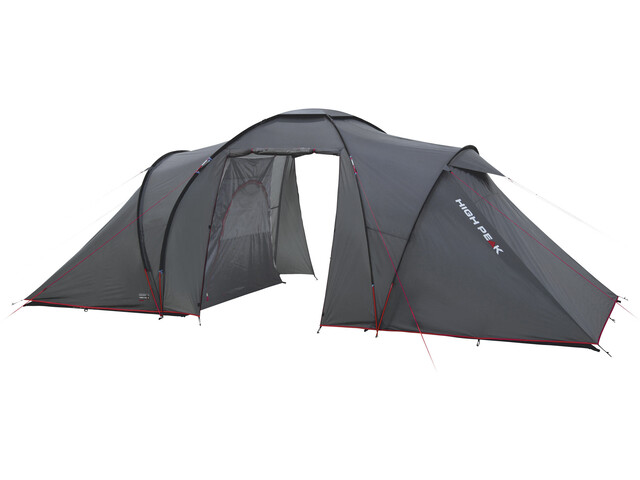 High Peak Como 4 Tent Dark Grey/Red